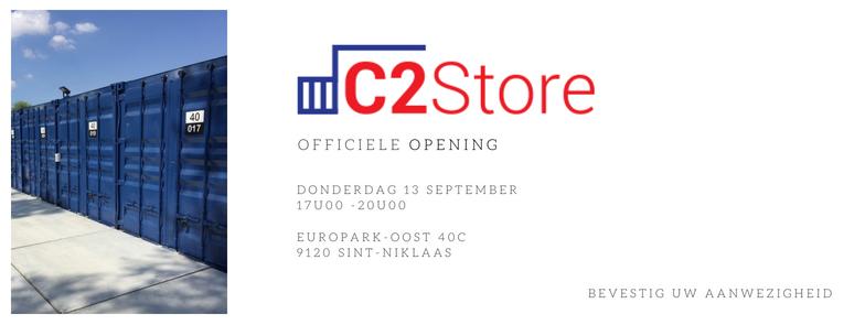 Uitnodiging event - openingsreceptie C2Store